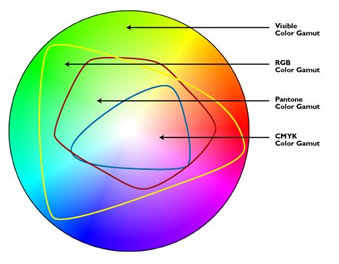 This Image Shows The Colors That A Typical Computer Monitor CRT Can Display Gray Areas Are Fall Outside Spectrum Of RGB Red Green
