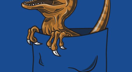 Pocket Raptor Tee Design By Tabner