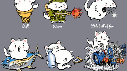 Soft Kitty Tee Design