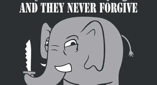 Elephants Never Forgive Tee Design