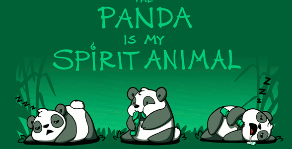 The Panda Is My Spirit Animal Tee Design by Fablefire
