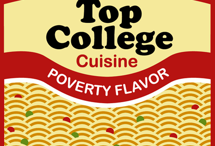 Top College Cuisine Tee Design by freshmutton