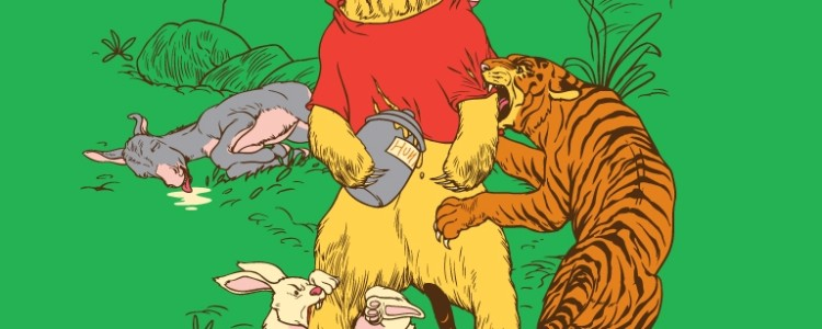 A Very Naughty Bear Tee Design by Roni Lagin and Mo Moussa.