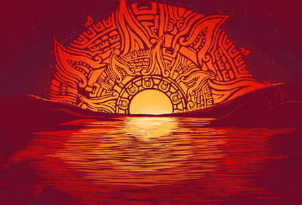 Aztec Sunset Tee Design By ramyb.