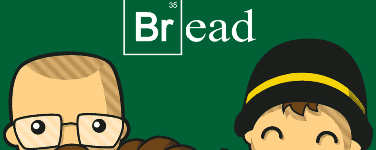 Breaking Bread Tee Design by wakho.
