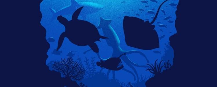 MYSTIC OCEAN Tee Design by Ben Chen.