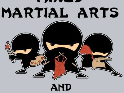 Mixed Martial Arts and Crafts Tee Design.