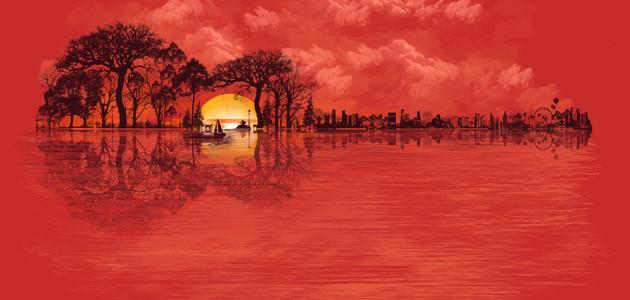 Musical Sunset Tee Design by DANDINGEROZZ.