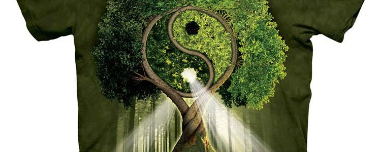 Yin Yang Tree Tee Design by Michael McGloin