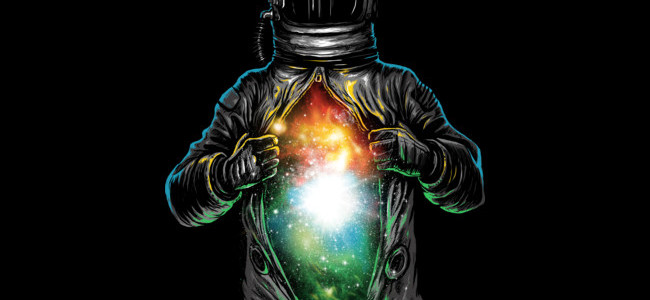 Cosmic Inside Tee Design by fourscore