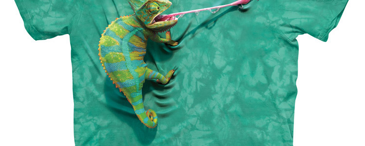 Climbing Chameleon Tee Design by David Penfound