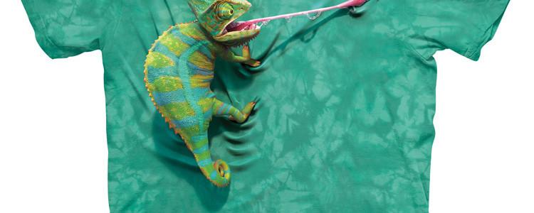 Climbing Chameleon Tee Design by David Penfound