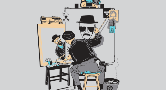 Heisenberg Self Portrait Tee Design