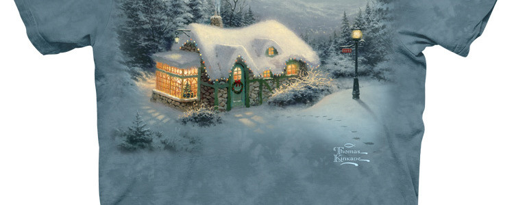 Silent Night Tee Design by Thomas Kinkade
