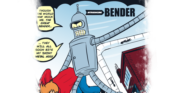 The Amazing Bender Tee Design by SergioDoe.