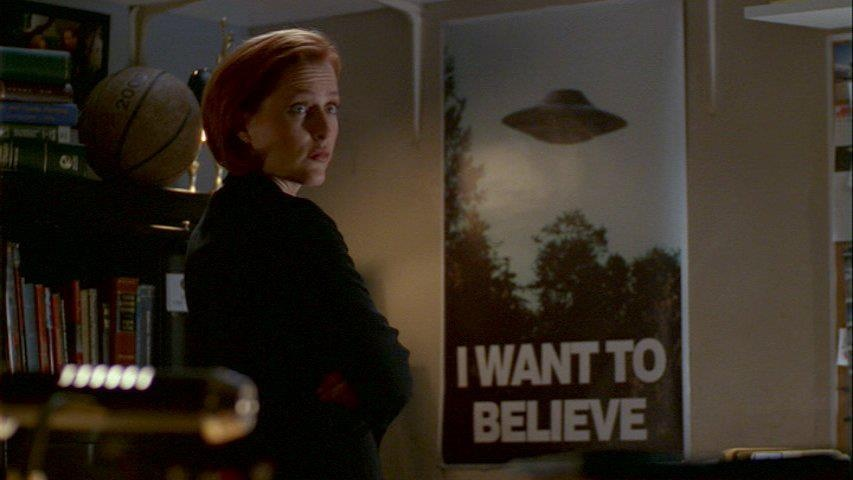 I Want To Believe Poster X-files Mulder's Office