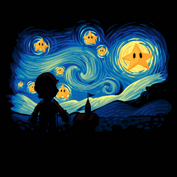 super starry night tee design review tee fetch