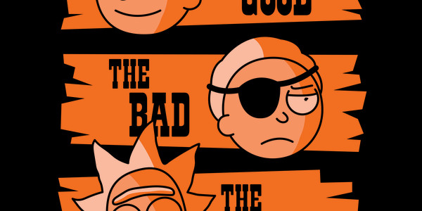 The Good The Bad The Rick Tee Design by Haragos.