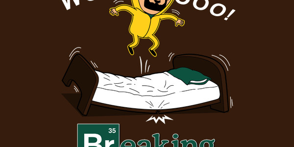 Breaking Bed Tee Design by Boggs Nicolas.