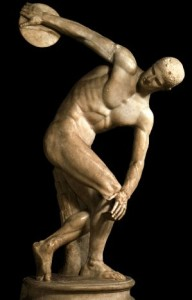 The Discobolus of Myron is a Greek sculpture.