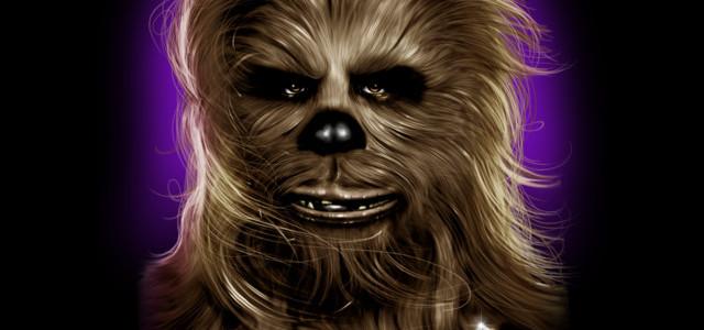 Chewbacca's Glamor Shot Tee Design.