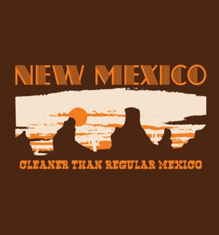 New Mexico Cleaner than Regular Mexico Tee Design.