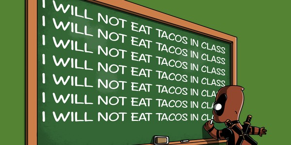 Not Eat Tacos In Class Tee Design by Soulkr