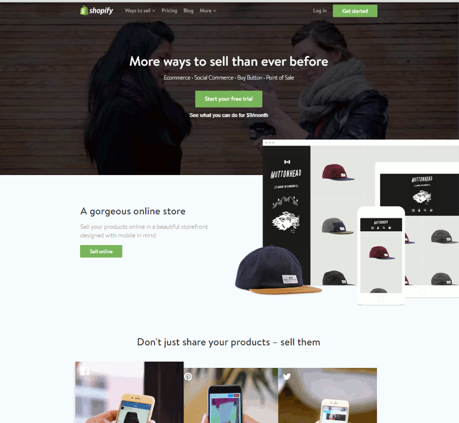 Shopify Screen Shot - Shopify For An Online T-shirt Shop
