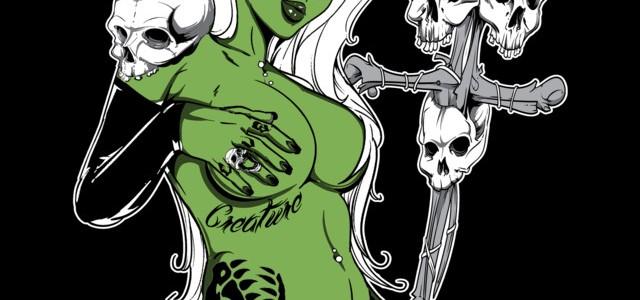 Priestess Tee Design by Von Zombie
