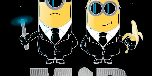 Minions In Black Tee Design by Chicoloco Designs.