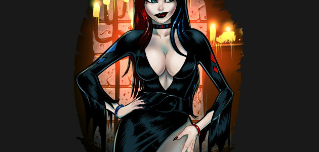 Elvira Quinn Mistress of Mayhem Shirt Design by dsilvadesigns