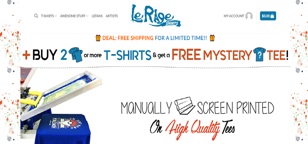 Le Rage Shirts ScreenShot