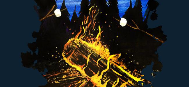 Camp Fire Hoodie Design by Adamzworld