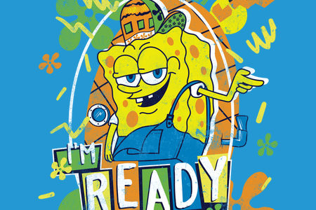 I'm Ready SPONGEBOB SQUAREPANTS T-shirt Design by Mitch Ludwig.