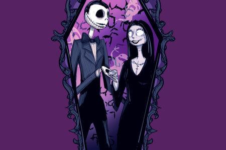 Jack and Sally Addams II Tshirt Design By Ludwig Van Bacon