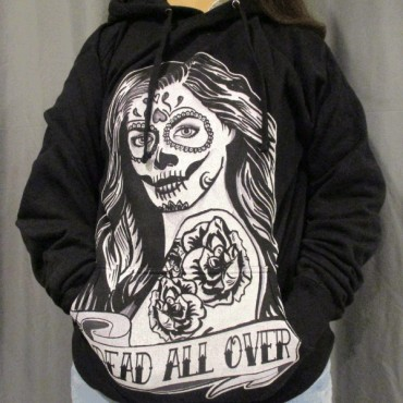 09fd0ac89 Day of The Dead Tattoo Girl Hoodie Design Worn Design By Humans Print  Quality Review